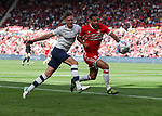 Josh Earl of Preston North End in action with Lewis Baker of during Middlesbrough the Sky Bet Championship match at the Riverside Stadium, Middlesbrough. Picture date: August 26th 2017. Picture credit should read: Jamie Tyerman/Sportimage