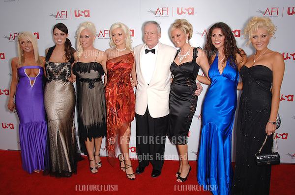 Playboy founder HUGH HEFNER & friends at the 34th AFI Life Achievement Award Gala in Hollywood..June 8, 2006  Los Angeles, CA.© 2006 Paul Smith / Featureflash
