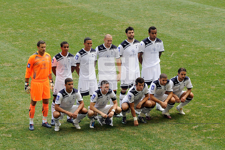 Tottenham Hotspur F. C. starting eleven. Tottenham Hotspur F. C. and Sporting Clube de Portugal played to a 2-2 tie during a Barclays New York Challenge match at Red Bull Arena in Harrison, NJ, on July 25, 2010.