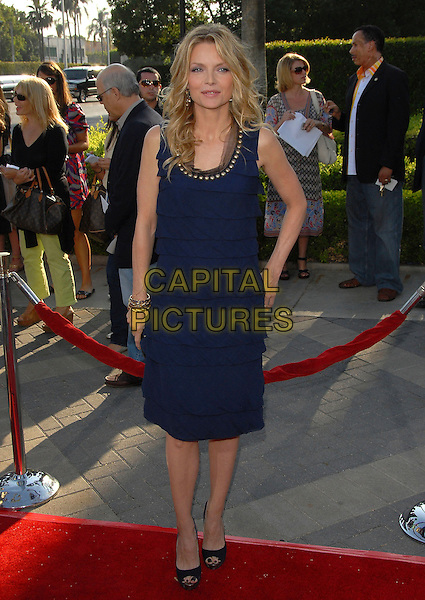 "MICHELLE PFEIFFER.at The Paramount Pictures L.A. Premiere of ""Stardust"" held at Paramount Studios in Hollywood, California, USA,.July 29 2007..full length navy blue dress ruffles layers studs gold studded neckline collar                                                       .CAP/DVS.©Debbie VanStory/Capital Pictures"