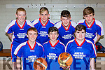 Athea Vixens team that played Gneeveguilla in the u16 final at the  County basketball finals in Killarney on Sunday front row l-r: Michael John Ambrose, John Sexton, Paddy o'Callaghan. Back row: Michael Dalton, Andy Ahern, Jack O'Neill, Seamus Leahy