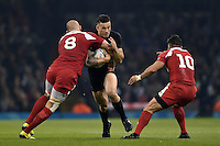 Sonny Bill Williams of New Zealand takes on the Georgia defence. Rugby World Cup Pool C match between New Zealand and Georgia on October 2, 2015 at the Millennium Stadium in Cardiff, Wales. Photo by: Patrick Khachfe / Onside Images