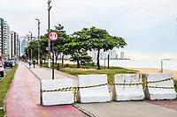 Vila Velha (ES),  10/05/2020 - Bloqueio na Orla de Vila Velha. - Prefeitura de Vila Velha instala Barreras de Contenção na Orla das praias da costa até Itaparica, para concientizar as pessoas a não caminharem ou correrem no calçadão.