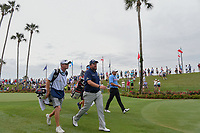 Shane Lowry (IRL) and Brandon Harkins (USA) make their way down 3 during round 3 of The Players Championship, TPC Sawgrass, at Ponte Vedra, Florida, USA. 5/12/2018.<br /> Picture: Golffile | Ken Murray<br /> <br /> <br /> All photo usage must carry mandatory copyright credit (&copy; Golffile | Ken Murray)