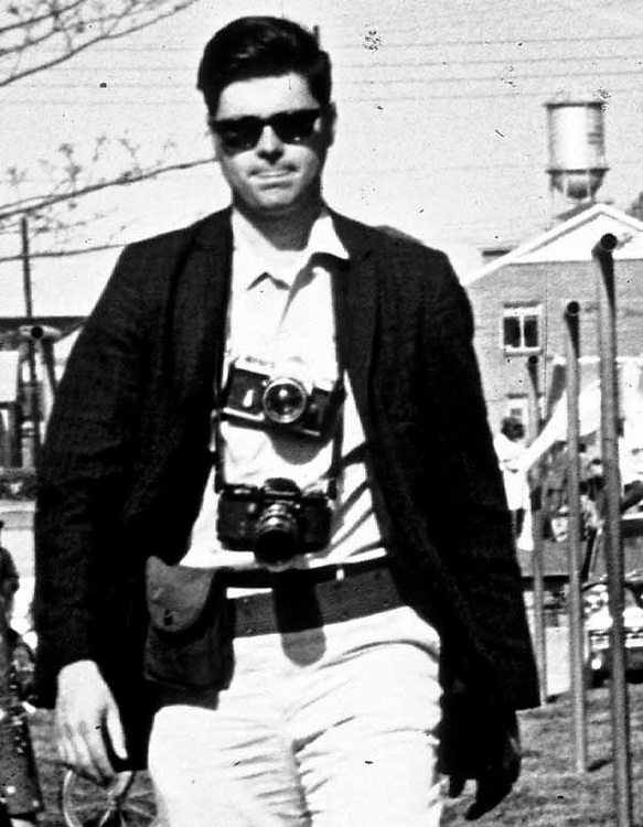 Courier Reporter, Pat Prandini with Photographer, Jim Peppler, in Selma, Alabama.  (Photographer Unknown)