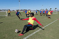 Lakewood Ranch, FL - Sunday Jan. 07, 2018: Aboubacar Keita during an U-19 USMNT training session at Premier Sports Campus in Lakewood Ranch, FL.