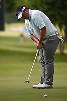 Kiradech Aphibarnrat (THA) watches his putt on 5 during round 2 of the 2019 Charles Schwab Challenge, Colonial Country Club, Ft. Worth, Texas,  USA. 5/24/2019.<br /> Picture: Golffile   Ken Murray<br /> <br /> All photo usage must carry mandatory copyright credit (© Golffile   Ken Murray)