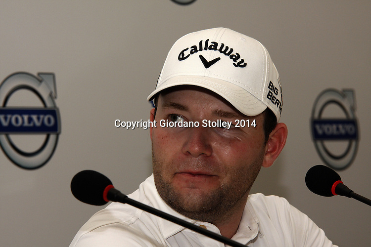 DURBAN - 7 January 2014 - South African golfer Branden Grace speaks at a press conference in the run up to the Volvo Golf Champions event set to tee off on January 9 and finish on January 12. Grace is a former winner of the event. Picture: Allied Picture Press/APP