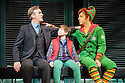 London, UK. 03.11.2015. ELF THE MUSICAL opens at the Dominion Theatre, Tottenham Court Road. Picture shows: Joe McGann (Walter Hobbs), Ewan Rutherford (Michael) and Ben Forster (Buddy). Photograph © Jane Hobson.