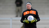 Blackpool's goalkeeping coach Dave Timmins during the pre-match warm-up<br /> <br /> Photographer Chris Vaughan/CameraSport<br /> <br /> The EFL Sky Bet League One - Burton Albion v Blackpool - Saturday 16th March 2019 - Pirelli Stadium - Burton upon Trent<br /> <br /> World Copyright &copy; 2019 CameraSport. All rights reserved. 43 Linden Ave. Countesthorpe. Leicester. England. LE8 5PG - Tel: +44 (0) 116 277 4147 - admin@camerasport.com - www.camerasport.com