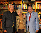 Fr. Hesburgh with Mr. & Mrs. Greif..Photo by Matt Cashore/University of Notre Dame