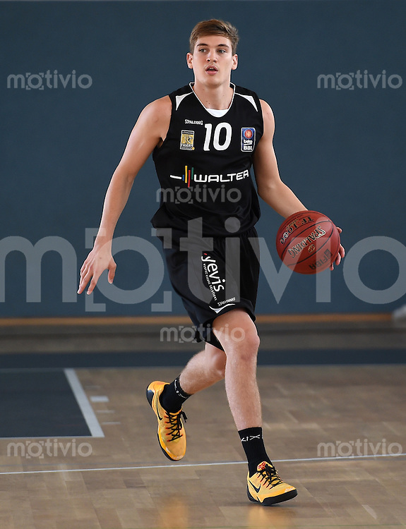 Basketball 1. Bundesliga 2014/2015 Testspiel 16.09.2014 Walter Tigers Tuebingen - Banvit Bandirma Till-Joscha Joenke (Tigers)