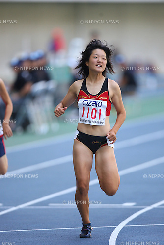 Anna Doi (Asaka-Daiichi), .AUGUST 24, 2009 - Athletics : .36th National Junior High School Athletics Championships Women's 100m at Oita Kyushu Sekiyu Dome in Oita, Japan. (Photo by Daiju Kitamura/AFLO SPORT)
