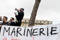 Roma,2 Marzo 2017<br /> Protesta dei pescatori dell'Associazione Marinerie d'Italia e d'Europa in Piazza Madonna di Loreto, per protestare contro le modifiche introdotte dalla legge 154 del 2016 che inasprisce le sanzioni sul sistema di pesca che prevede enormi multe rispetto alle infrazioni commesse sul pesce spada e la pesca del tonno