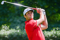 Jon Rahm (ESP) watches his tee shot on 3 during round 4 of the World Golf Championships, Mexico, Club De Golf Chapultepec, Mexico City, Mexico. 3/5/2017.<br /> Picture: Golffile | Ken Murray<br /> <br /> <br /> All photo usage must carry mandatory copyright credit (&copy; Golffile | Ken Murray)