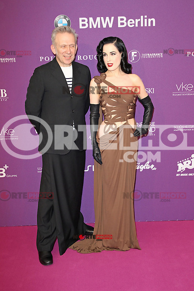 "Jean Paul Gaultier and Dita von Teese attending the ""Duftstars 2012 - German Perfume Award"" held at the Tempodrom in Berlin, Germany, 04.05.2012..Credit: Semmer/face to face /MediaPunch Inc. ***FOR USA ONLY***"