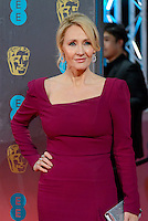 www.acepixs.com<br /> <br /> February 12 2017, London<br /> <br /> JK Rowling arriving at the 70th EE British Academy Film Awards (BAFTA) at the Royal Albert Hall on February 12, 2017 in London, England<br /> <br /> By Line: Famous/ACE Pictures<br /> <br /> <br /> ACE Pictures Inc<br /> Tel: 6467670430<br /> Email: info@acepixs.com<br /> www.acepixs.com