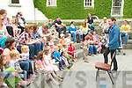 Niall De Burca: Storyteller Niall de Burca entertaing children in the grounds of Listowel Castle on Saturday.