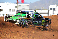 Apr 16, 2011; Surprise, AZ USA; LOORRS driver Casey Currie (2) during round 3 at Speedworld Off Road Park. Mandatory Credit: Mark J. Rebilas-.