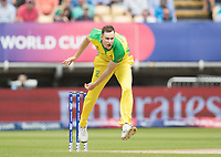 Jason Behrendorff (Australia) in action during Australia vs England, ICC World Cup Semi-Final Cricket at Edgbaston Stadium on 11th July 2019