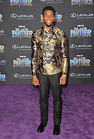 "Chadwick Boseman at the world premiere for ""Black Panther"" at the Dolby Theatre, Hollywood, USA 29 Jan. 2018<br /> Picture: Paul Smith/Featureflash/SilverHub 0208 004 5359 sales@silverhubmedia.com"