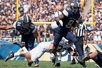 Pitt defensive back and running back Jordan Whitehead (9) carries the ball. The Pitt Panthers defeated the Penn State Nittany Lions 42-39 at Heinz Field, Pittsburgh, Pennsylvania on September 10, 2016.