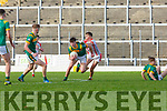 Dylan Geaney PS Chorcha Dhuibhne and Eoghan O'Sullivan St Brendans in action during the Corn Uí Mhuiri on Saturday
