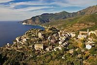 Corsica. Nonza village on Cap Corse. France.