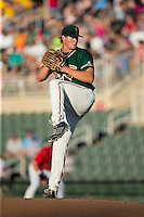 Greensboro Grasshoppers starting pitcher Tyler Kolek (30) in action against the Kannapolis Intimidators at CMC-Northeast Stadium on August 1, 2015 in Kannapolis, North Carolina.  The Intimidators defeated the Grasshoppers 7-4.  (Brian Westerholt/Four Seam Images)