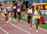 Golden Gala di atletica leggera allo stadio Olimpico di Roma, 6 giugno 2013.<br /> Sweden's Abeba Aregawi runs on her way to win the women's 1500 meters at the Golden Gala IAAF athletics meeting at Rome's Olympic stadium, 6 June 2013.<br /> UPDATE IMAGES PRESS/Riccardo De Luca