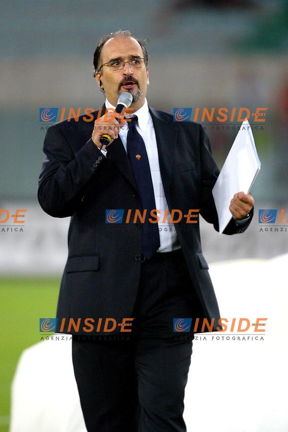 Roma 25/8/2003<br /> Presentazione AS Roma <br /> Carlo Zampa torna a fare lo speaker <br /> Foto Staccioli / Insidefoto