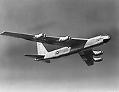 The Boeing YB-52 was the second prototype B-52 aircraft built and was virtually identical to the XB-52.  The YB-52 was initially ordered as the second XB-52, but various changes incorporated into the aircraft on the assembly line warranted a designation change. The aircraft was completed and rolled out for ground testing on 15 March 1952. The first flight of the YB-52 was one month later on 15 April. The XB-52 wings had been damaged during its ground test phase, so the YB-52 was the first B-52-type to fly.  Flight testing of the YB-52 (and XB-52 starting 2 October 1952) showed the aircraft to be very fast for its size. In fact, in early September 1954, the YB-52 made a speed run from the Boeing facilities in Seattle, Washington to Wright-Patterson Air Force Base, Ohio averaging nearly 625 mph.   General Curtis LeMay, Commander of the Strategic Air Command, was eager to get the B-52 into production; however, he was strongly opposed to the tandem seating of the pilot and copilot and essentially insisted that the flightdeck be redesigned. Boeing designers did just that and changed the entire forward fuselage so the flight crew were seated side-by-side. All production B-52s beginning with the -A model had the new design, only the two prototype aircraft had the B-47 style tandem canopy.  The YB-52 was eventually retired in the late 1950s to the United States Air Force (USAF) Museum. The aircraft was scrapped in the mid-1960s in a drive (non-USAF/USAF Museum) to get rid of excess military hardware. .Credit: U.S. Air Force via CNP