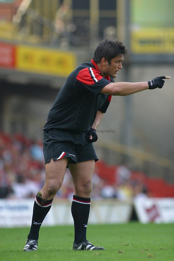 Photo: Jo Caird.Saracens v Leicester.Zurich Premiership 2003/4.21/09/2003....Taine Randell