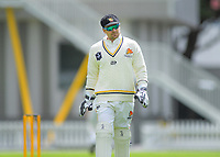 Wellington's Tom Blundell on day one of the Plunket Shield cricket match between the Wellington Firebirds and Otago Volts at Basin Reserve in Wellington, New Zealand on Monday, 21 October 2019. Photo: Dave Lintott / lintottphoto.co.nz