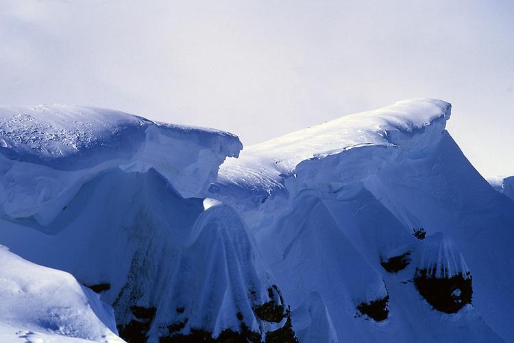 Cornices on the ridge of Mont Buet, Chamonix, France, 2007