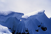 Cornices on the ridge of Mont Buet, Chamonix, France, 2007