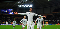 Swansea City's Rhian Brewster celebrates scoring his side's fourth goal<br /> <br /> Photographer Chris Vaughan/CameraSport<br /> <br /> The EFL Sky Bet Championship - Hull City v Swansea City -  Friday 14th February 2020 - KCOM Stadium - Hull<br /> <br /> World Copyright © 2020 CameraSport. All rights reserved. 43 Linden Ave. Countesthorpe. Leicester. England. LE8 5PG - Tel: +44 (0) 116 277 4147 - admin@camerasport.com - www.camerasport.com