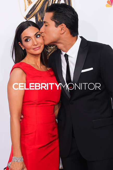 PASADENA, CA, USA - OCTOBER 10: Courtney Mazza, Mario Lopez arrive at the 2014 NCLR ALMA Awards held at the Pasadena Civic Auditorium on October 10, 2014 in Pasadena, California, United States. (Photo by Celebrity Monitor)