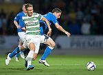 St Johnstone v Celtic...13.08.14  SPFL<br /> Stefan Johansen and Gary McDonald<br /> Picture by Graeme Hart.<br /> Copyright Perthshire Picture Agency<br /> Tel: 01738 623350  Mobile: 07990 594431