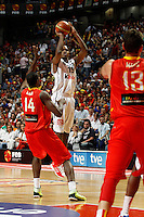 10.07.2012 Preparatory meeting for the London 2012 Olympics between Spain and France. Played at the Palacio de los Deportes stadium.