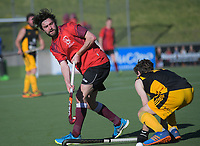 Action from the Wellington premier men's hockey final between Dalefield and Hutt United at The National Hockey Stadium, Wellington, New Zealand on Saturday, 11 August 2018. Photo: Dave Lintott / lintottphoto.co.nz