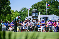 Sergio Garcia (ESP) watches his putt on 9 during the round 1 of the Dean &amp; Deluca Invitational, at The Colonial, Ft. Worth, Texas, USA. 5/25/2017.<br /> Picture: Golffile | Ken Murray<br /> <br /> <br /> All photo usage must carry mandatory copyright credit (&copy; Golffile | Ken Murray)