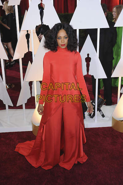 HOLLYWOOD, CA - FEBRUARY 22: Solange Knowles attends 87th Annual Academy Awards at The Dolby Theater on February 22nd, 2015 in Hollywood, California. <br /> CAP/MPI/PGMP<br /> &copy;PGMP/MPI/Capital Pictures