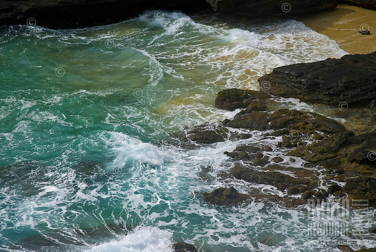 Halona cove as seen from Blowhole Lookout, Oahu, Hawaii