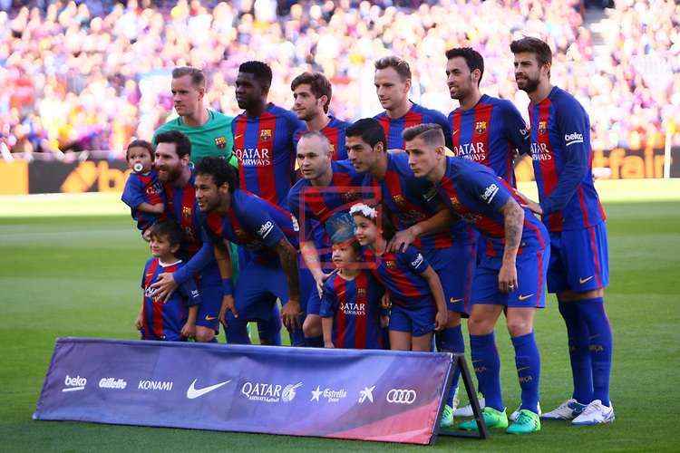 League Santander 2016/2017. Game: 36.<br /> FC Barcelona vs Villarreal CF: 4-1.