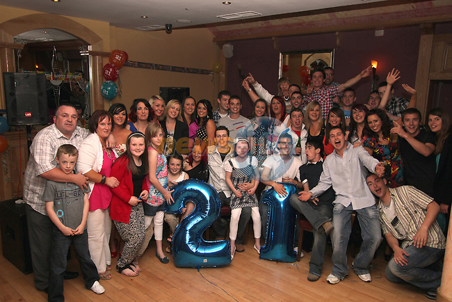 21st birthday party for Karl Devine inThe Thatch...(Photo credit should read Jenny Matthews www.newsfile.ie)....This Picture has been sent you under the conditions enclosed by:.Newsfile Ltd..The Studio,.Millmount Abbey,.Drogheda,.Co Meath..Ireland..Tel: +353(0)41-9871240.Fax: +353(0)41-9871260.GSM: +353(0)86-2500958.email: pictures@newsfile.ie.www.newsfile.ie.