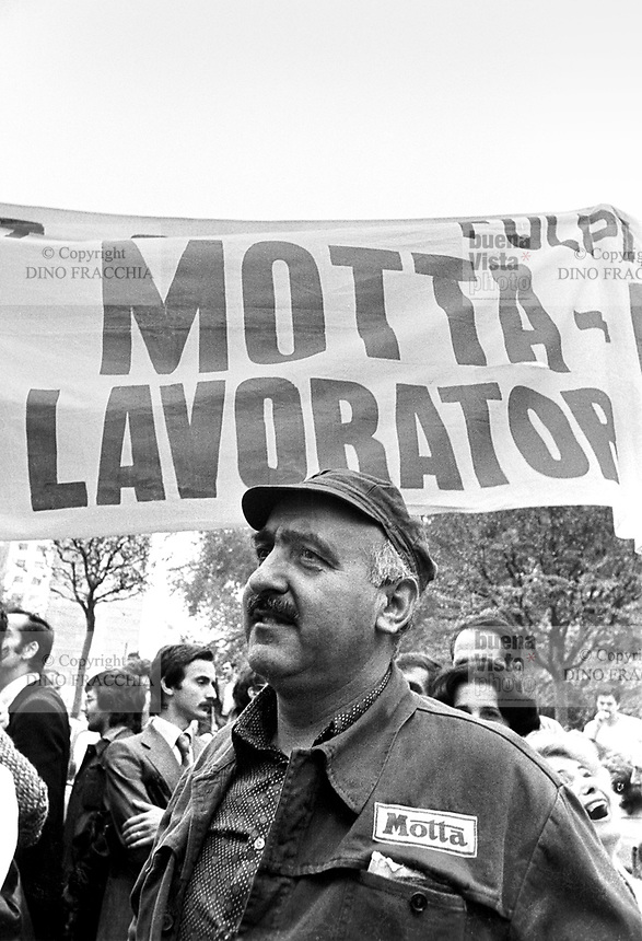 - strike of Motta and Alemagna workers against state management of companies (Milan, october 1976)<br />