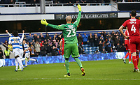 Darren Randolph of Middlesbrough appeals the goal during Queens Park Rangers vs Middlesbrough, Sky Bet EFL Championship Football at Loftus Road Stadium on 9th November 2019