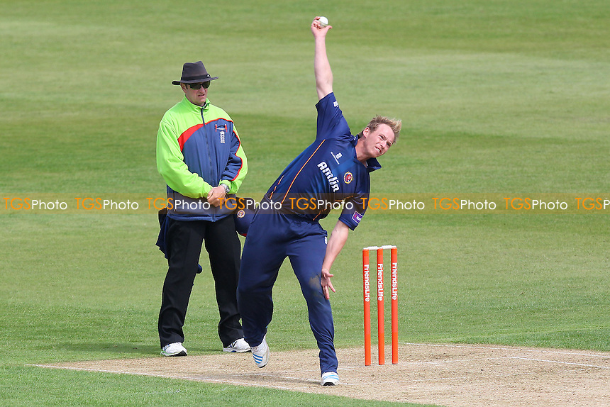 Tom Westley in bowling action for Essex - Northamptonshire CCC 2nd XI vs Essex CCC 2nd XI - 2nd XI T20 Cricket at the County Ground, Northampton - 09/05/14 - MANDATORY CREDIT: Gavin Ellis/TGSPHOTO - Self billing applies where appropriate - 0845 094 6026 - contact@tgsphoto.co.uk - NO UNPAID USE