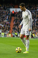 Real Madrid´s Cristiano Ronaldo during 2014-15 La Liga match between Real Madrid and Deportivo de la Coruna at Santiago Bernabeu stadium in Madrid, Spain. February 14, 2015. (ALTERPHOTOS/Luis Fernandez) /NORTEphoto.com